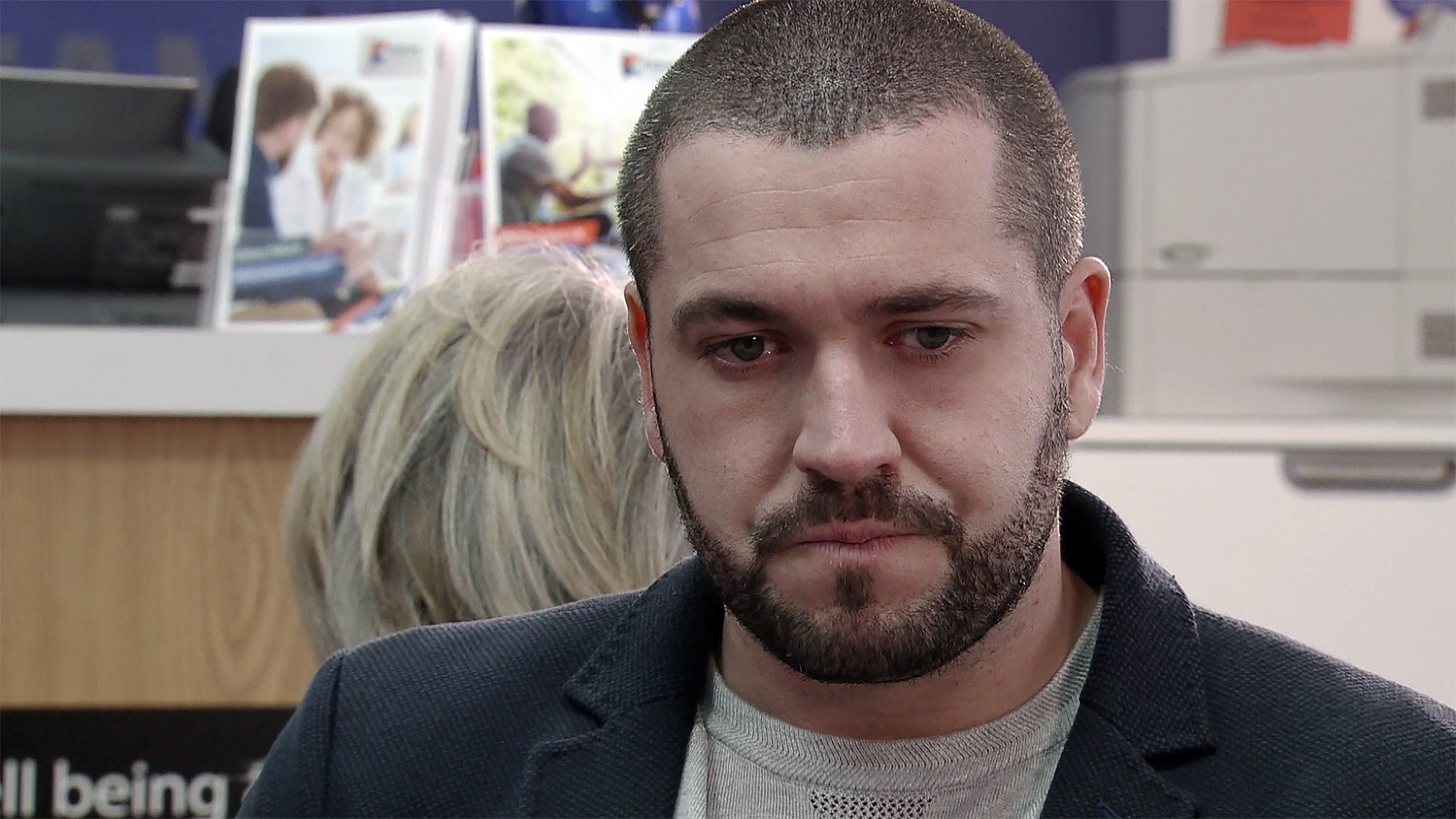 Aidan worries about the operation in Coronation Street
