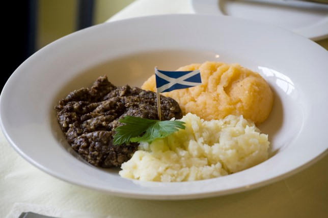 A plate of haggis, neeps and tatties for Burns Night