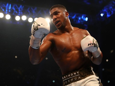 Anthony Joshua annoyed by reporter when asked about Floyd Mayweather: 'I don't care about that sh*t!'