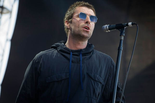 Liam Gallagher performing in Australia