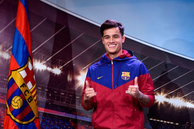 pick up 3d514 cca9c Liverpool transfer news: Philippe Coutinho pictured in ...