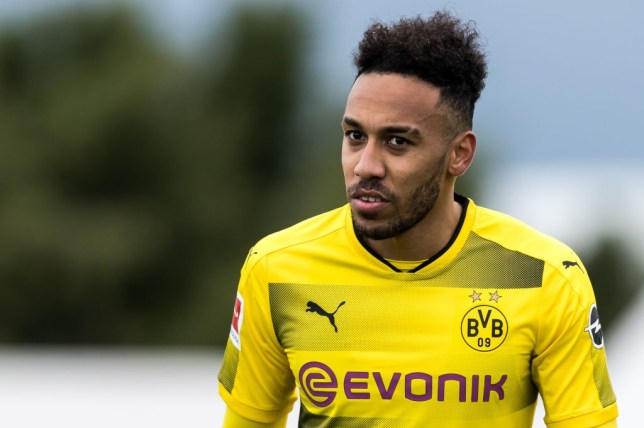 f9fd7d9b1cb Aubameyang s agent jets into London to discuss £53m transfer to Arsenal.  Pierre-Emerick ...