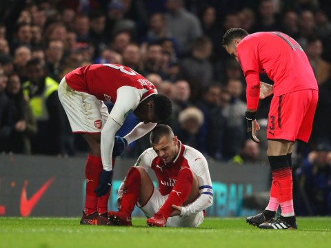 Arsene Wenger confirms Jack Wilshere has suffered 'ankle sprain' after limping out of Chelsea draw