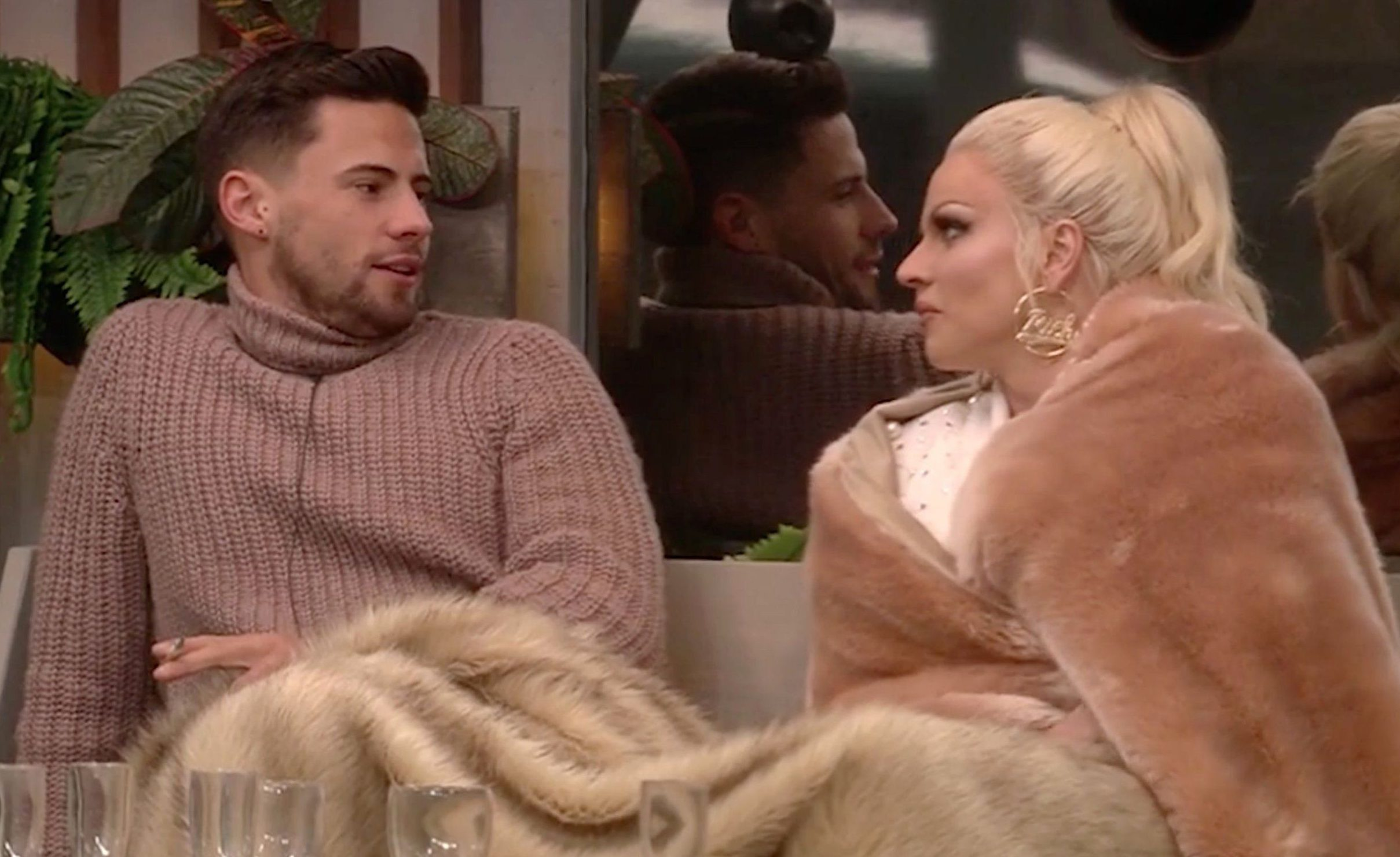 Editorial Use Only Mandatory Credit: Photo by REX/Shutterstock (9318733j) Courtney Act and Andrew Brady 'Celebrity Big Brother' TV show, Series 21, Elstree Studios, Hertfordshire, UK - 13 Jan 2018