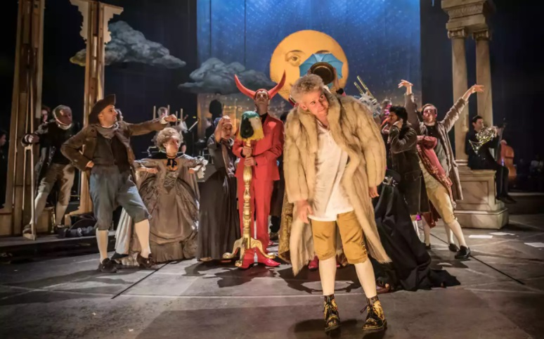 Amadeus, National Theatre, review: Mozart is a tempestuous young upstart in this surprising comic hit