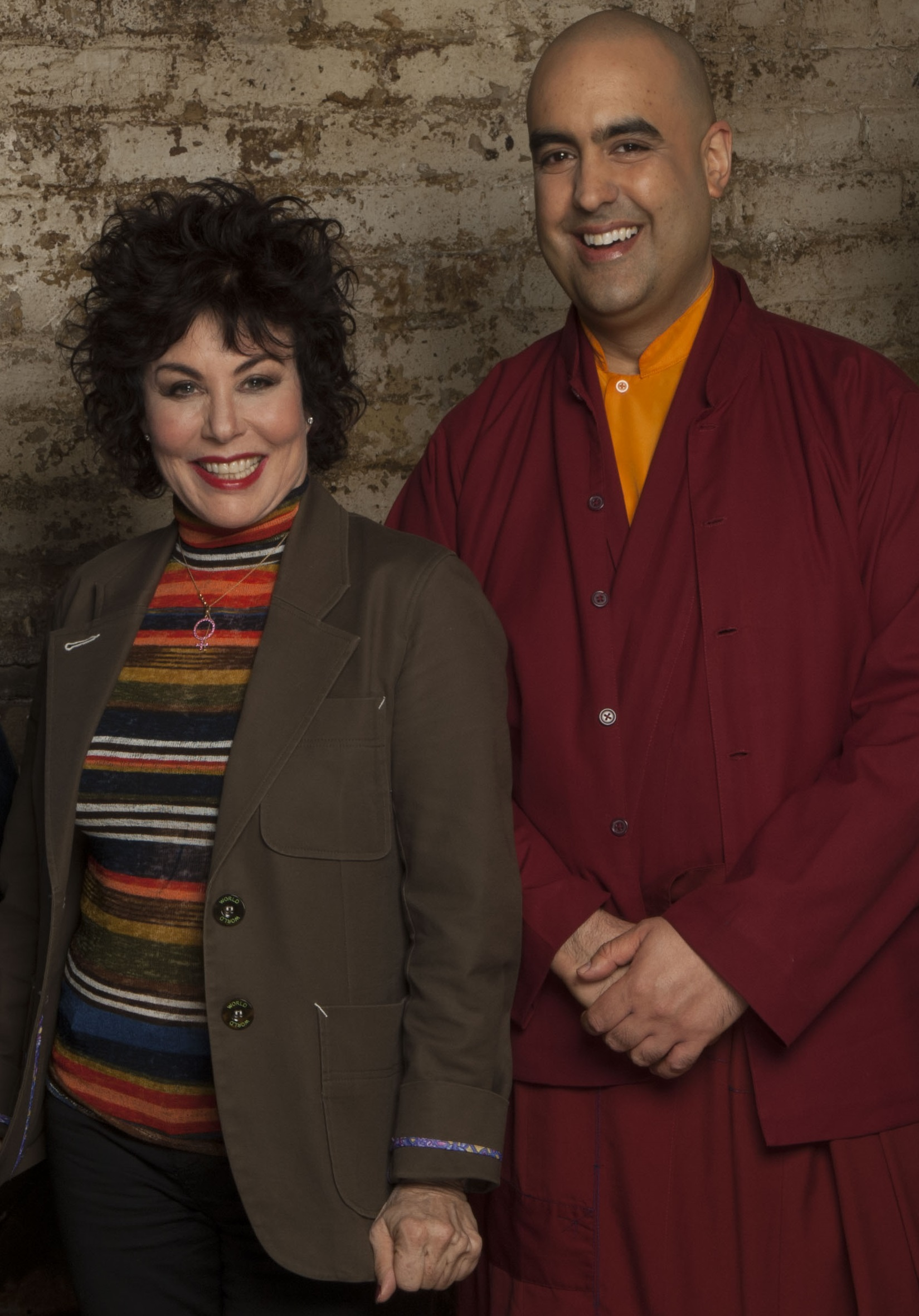Ruby Wax and Gelong Thubten (Picture: FMCM)