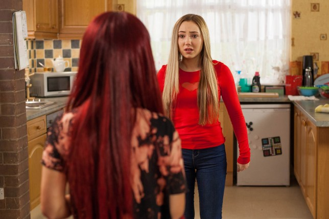 Goldie confronts Peri in Hollyoaks