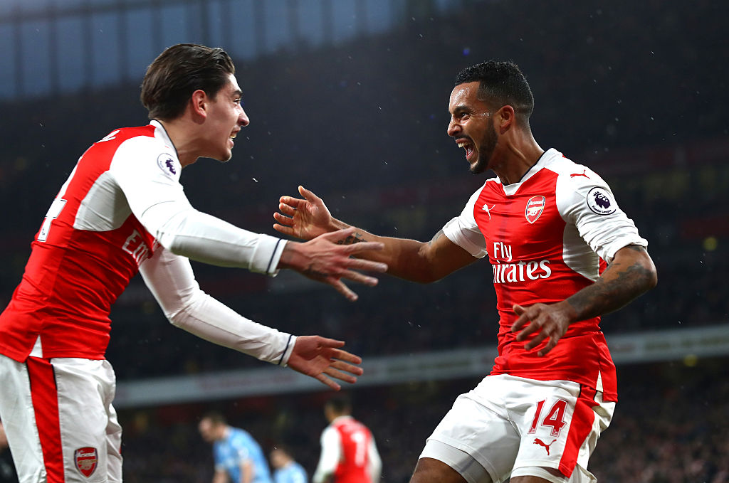 Arsenal defender Hector Bellerin says goodbye to speedster rival Theo Walcott