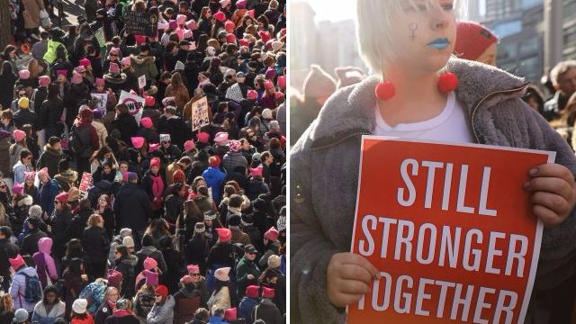 Thousands call for Trump to go in Women's March