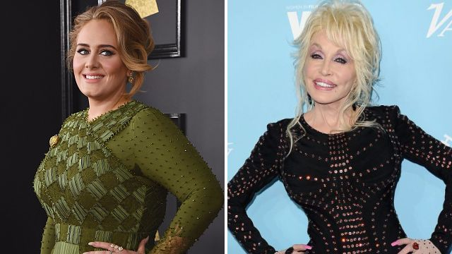 Adele and Dolly Parton
