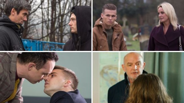 Soap spoilers for Cain and Ross in Emmerdale, Mel and Hunter in EastEnders, James and Harry in Hollyoaks and Phelan and Faye in Coronation Street