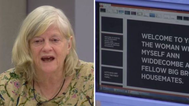 CBB viewers baffled by PowerPoint autocue as Ann Widdecombe conducts panel show