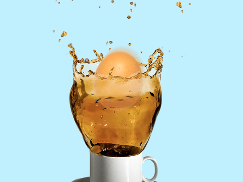 Should you drop a raw egg into your coffee?