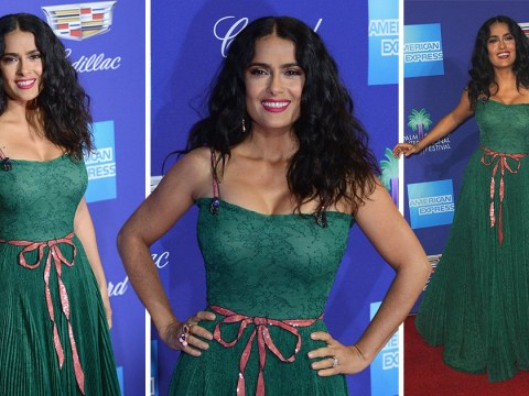 Salma Hayek makes us green with envy at Palms Springs Film Festival after Weinstein allegations
