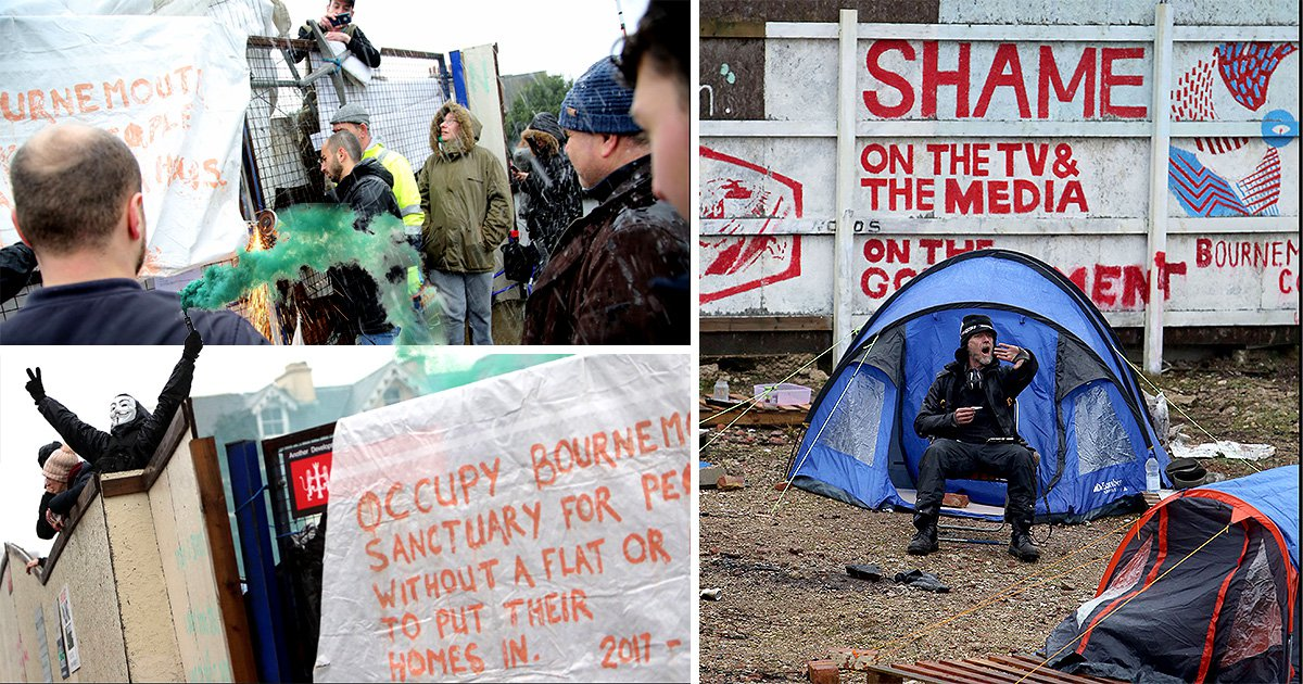 Ugly scenes as bailiffs move in to close unauthorised homeless camp