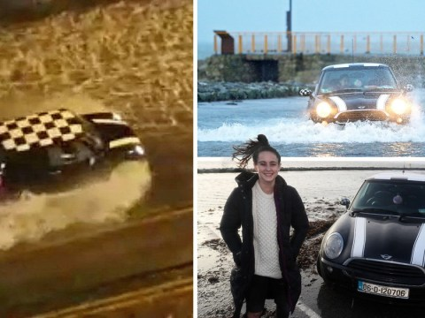 Mini driver who escaped Storm Eleanor flood says it was a 'walk in the park'