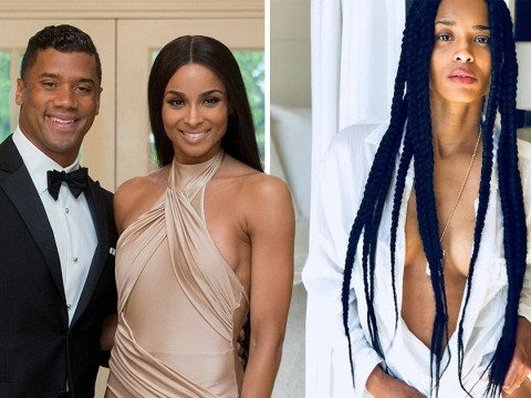 Ciara poses nearly naked in provocative pictures shot by husband Russell Wilson