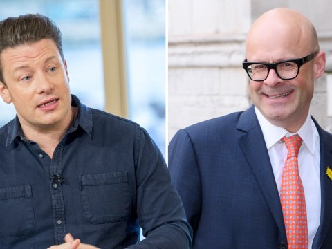 Harry Hill reveals feud with Jamie Oliver after he mocked the celebrity chef: 'We took it too far and Jamie hit the roof!'