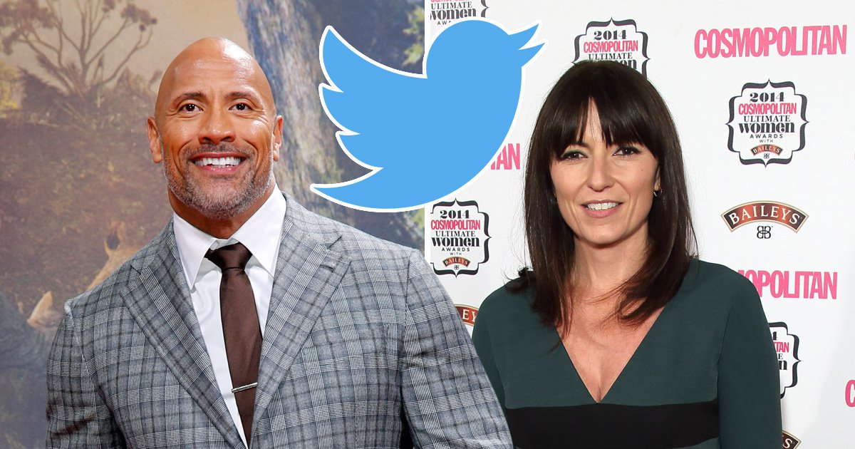 The Rock offers Davina McCall words of advice after she asks to be pals