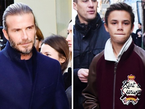 David Beckham joined by family as he launches new Kent & Curwen shop in London