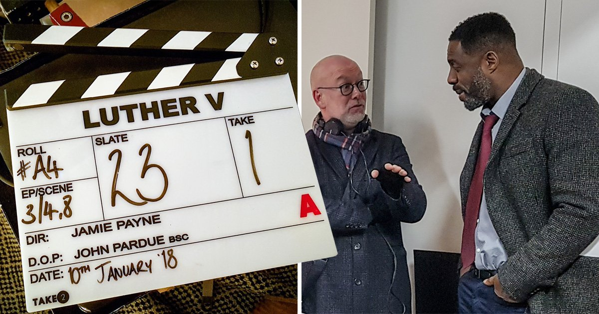 Idris Elba kicks off filming for 'explosive' Luther series five: 'It's good to be back in the coat'