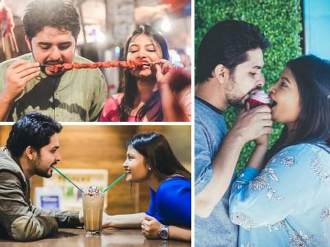 Food-loving couple organise grub themed pre-wedding shoot