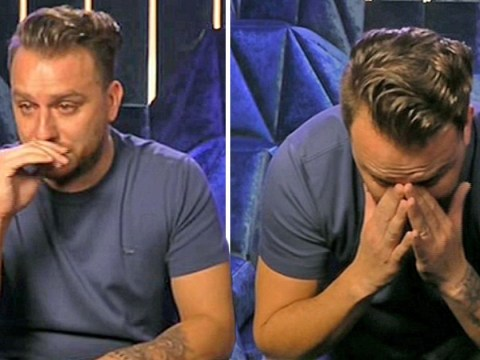Dapper Laughs breaks down as he talks about his late father in the Celebrity Big Brother house