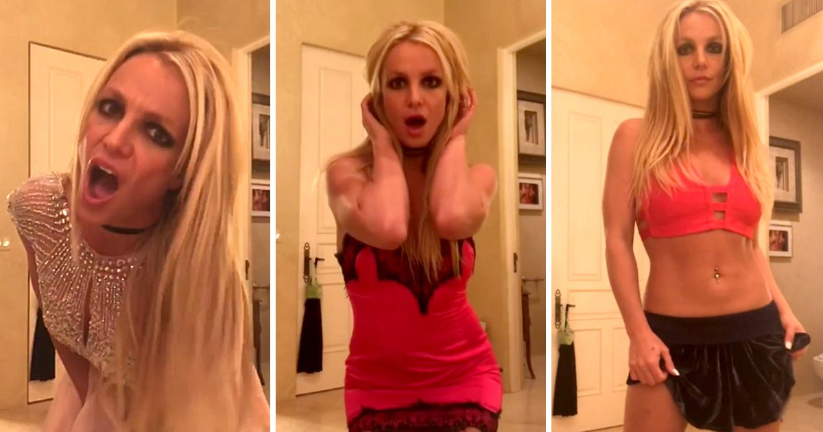 Britney Spears sends fans into a spin with wacky video