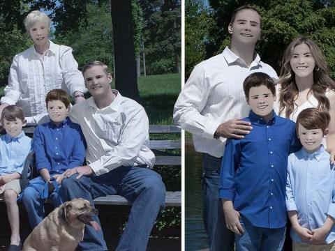 Disastrous photoshoot left family looking like creepy cartoon characters