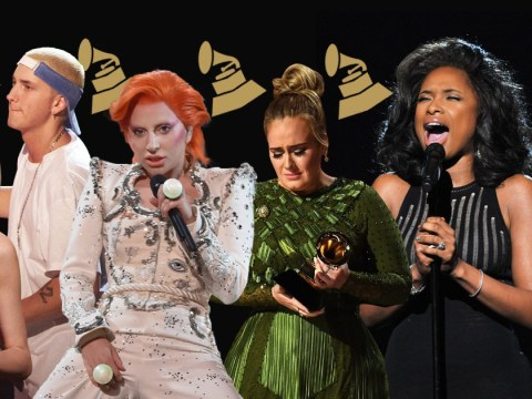 On-stage weddings, Eminem and Elton, and Lady Gaga's big egg: the most memorable Grammy Awards moments of all time