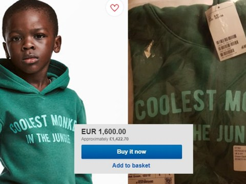 H&M's 'racist coolest monkey' hoodie on sale for £1,400 on eBay