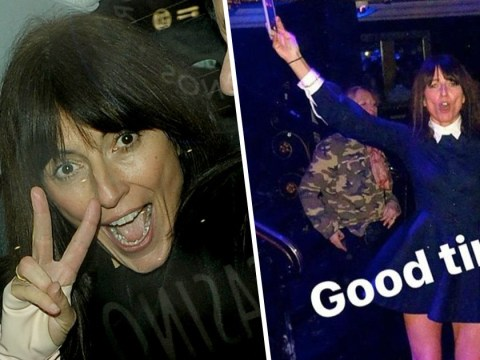 Davina McCall throws some shapes as she 'prances around feeling toned and confident' at 50th birthday bash