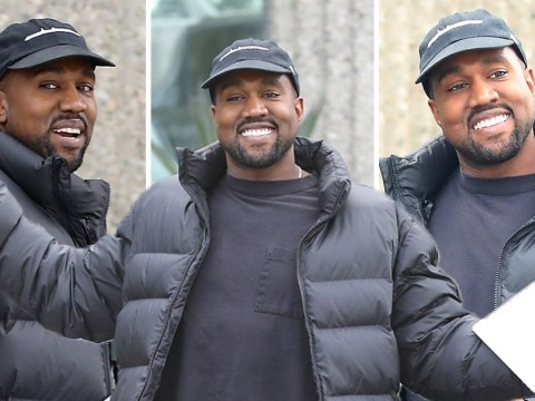We've never seen Kanye West look so happy as he says naming new baby Donda 'is fire'