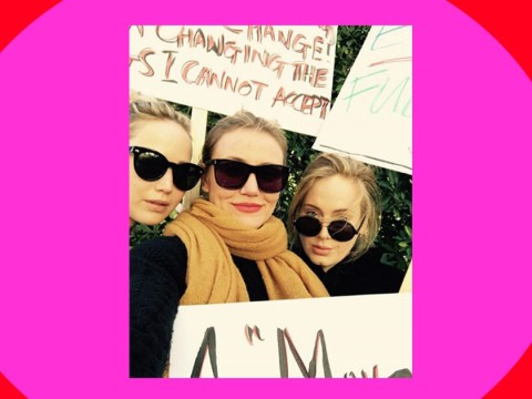 Adele protests alongside celeb pals Cameron Diaz and Jennifer Lawrence as A-list turn out for Women's March