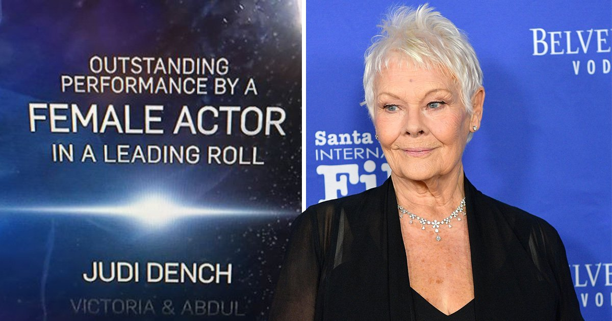 Judi Dench nominated for best actress in a 'leading roll' at SAG Awards in glaring typo