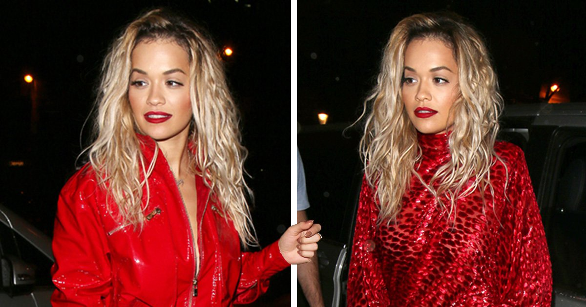 Rita Ora goes for wardrobe change after dropping new track with Liam Payne for Fifty Shades