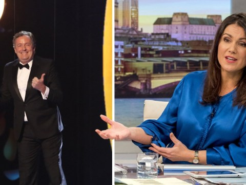 Susanna Reid takes swipe at GMB co-host Piers Morgan after he's hoisted off NTAs stage