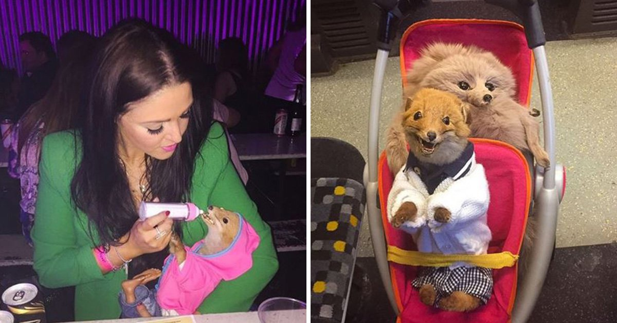 Meet the woman who takes her taxidermy baby fox everywhere she goes
