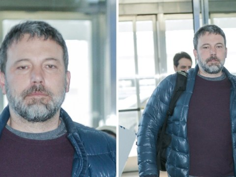 Ben Affleck looks frazzled at JFK as he makes bizarre comment about 'passing wind'
