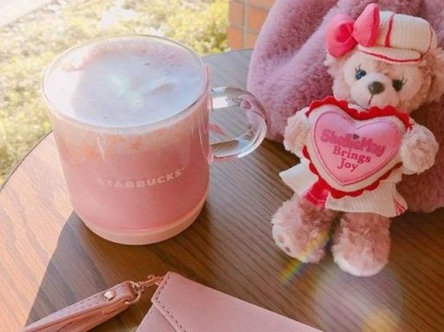 Millennial pink Starbucks drink