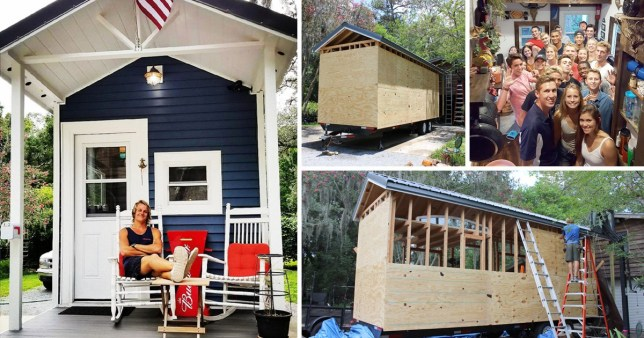Student Bradley builds himself a tiny house so he can live rent-free