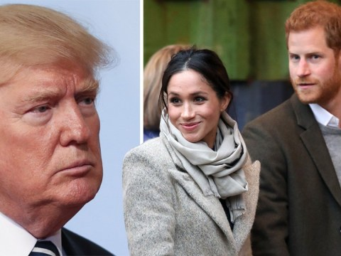 Donald Trump 'not aware of' an invitation to Harry and Meghan's wedding
