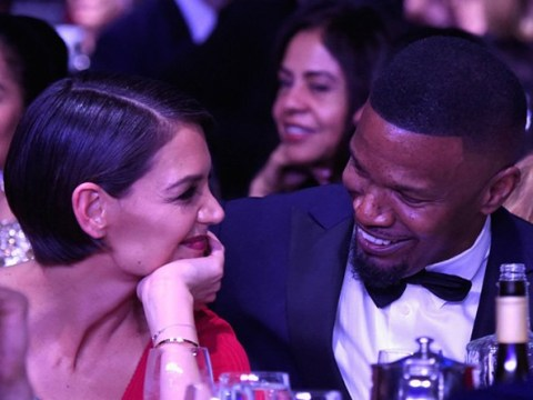 Katie Holmes and Jamie Foxx can't stop gazing into each other's eyes at pre-Grammy party – and it's cute AF