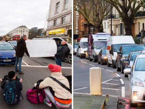 Air pollution protesters bring traffic to standstill demanding clean air