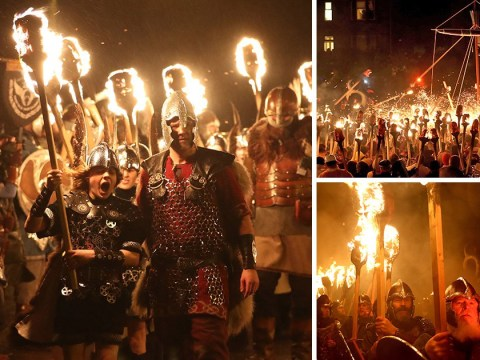 In pictures: The Vikings' Up Helly Aa fire festival in Shetland