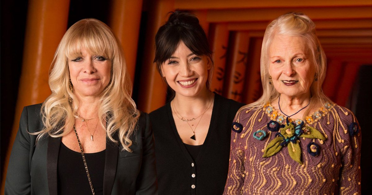 Jo Wood, Daisy Lowe and Vivienne Westwood