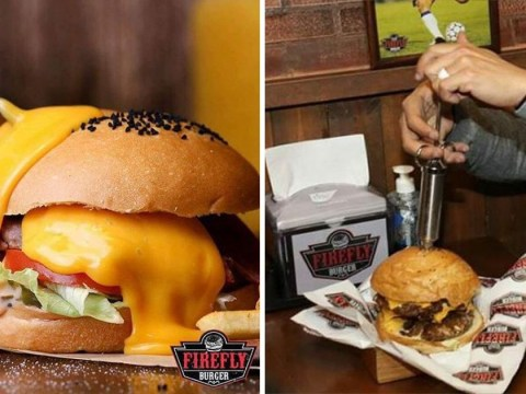 This restaurant injects molten cheese into its burgers