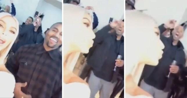 Kanye leaves Kim K hanging over new year kiss