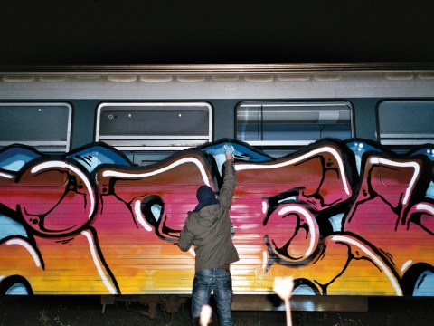 Inside the world of artists painting graffiti on trains