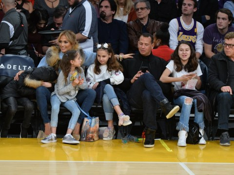 Jennifer Lopez and Alex Rodriguez are basically The Brady Bunch in adorable family photo with the kids